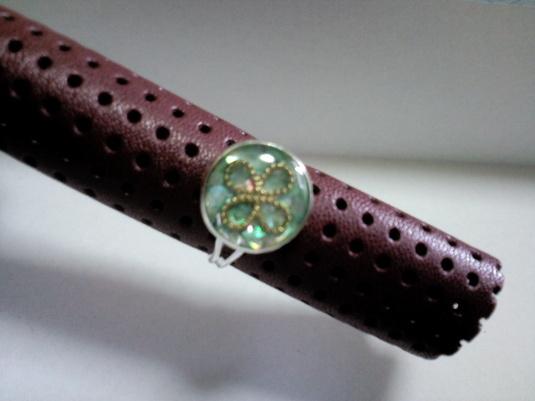 レジン 指輪*緑*