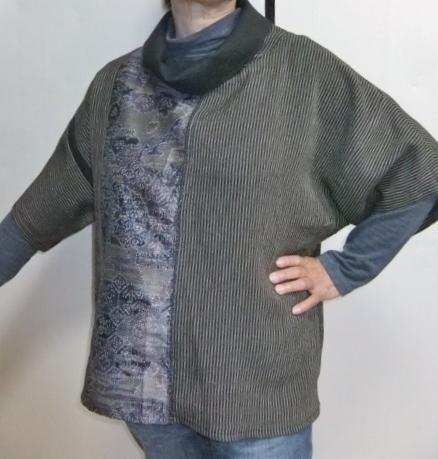 着物リメイク 丹前で作ったプルオーバー 733
