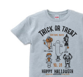 TRICK OR TREAT  XS Tシャツ 【受注生産品】
