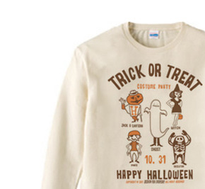 TRICK OR TREAT  長袖Tシャツ【受注生産品】