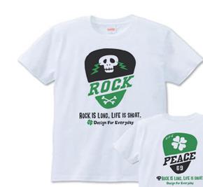 ギターピック〜スカル&クローバー〜 Tシャツ S〜XL  【受注生産品】