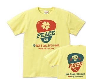 ギターピック〜クローバー&スカル〜 S〜XL Tシャツ 【受注生産品】