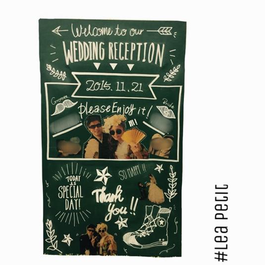 ウェルカムボード(L)デザイン① 結婚式 wedding 黒板 ウェディング