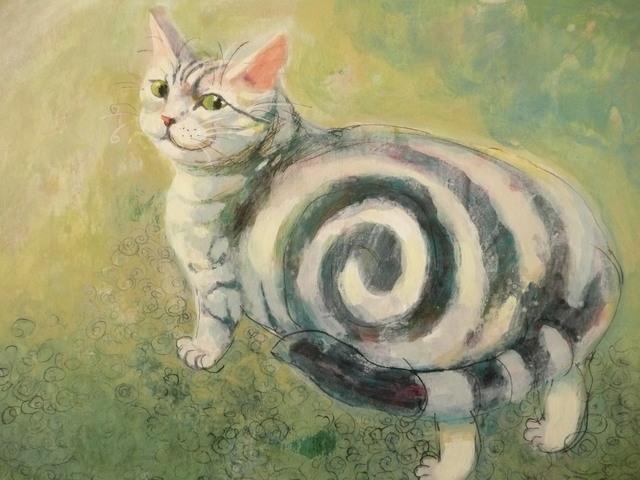 猫の絵 「ぼくの自慢」
