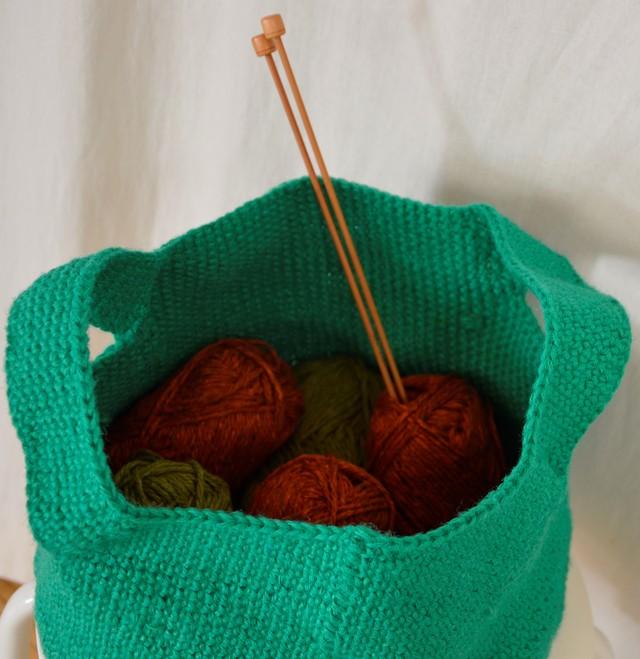 手編みの麻かご