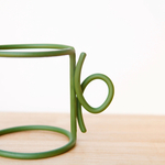 wire cup olive green