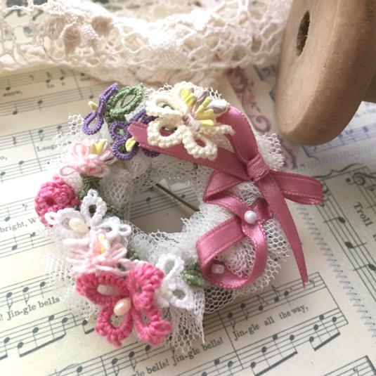 ノスタルジック小花のチュチュブローチ*スワニルダ*