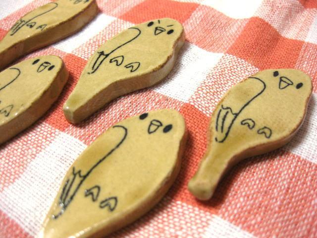 インコ箸置き(黄)