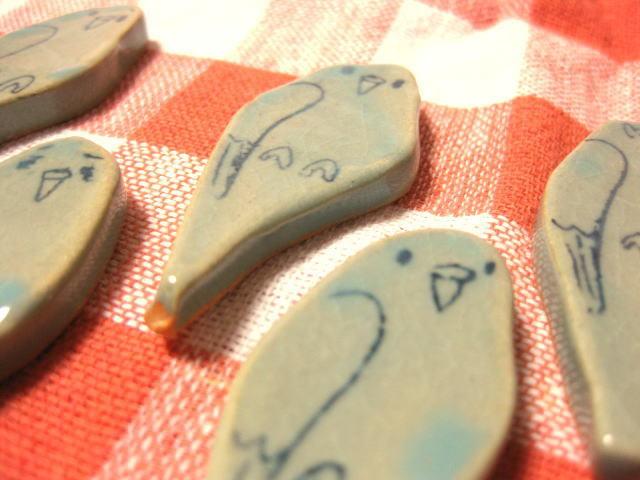 インコ箸置き(青)
