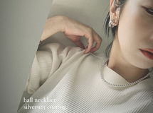 3Aug20*Silver925 コーディング ball necklace ボールネックレス シルバー