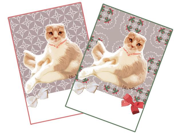 ねこ・猫 スコティッシュフォールド プリティポストカード