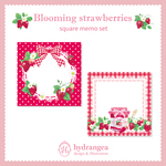 【Blooming Strawberries】メモ紙セット