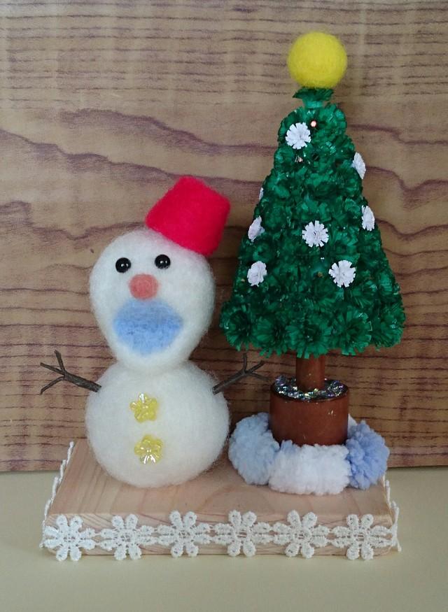 値下しました    楽しいね♪ 雪だるまとツリー