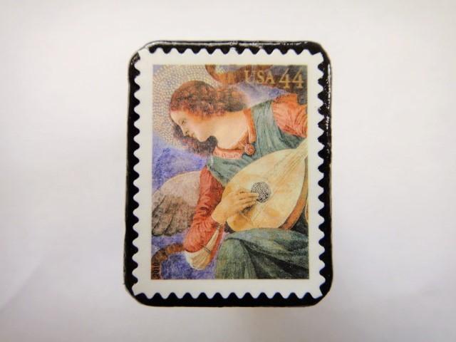 アメリカ クリスマス切手ブローチ 317