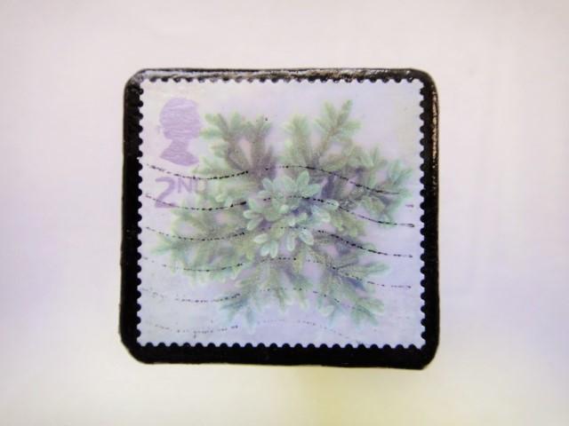 イギリス クリスマス切手ブローチ328