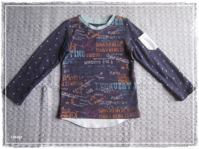 ポケット長そでTシャツ(グラフィック・B )・110