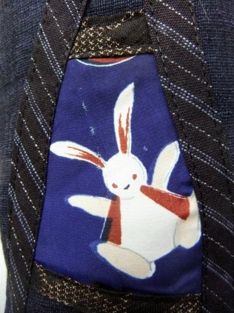 着物リメイク 紬の着物でてくったミニポシェット 754