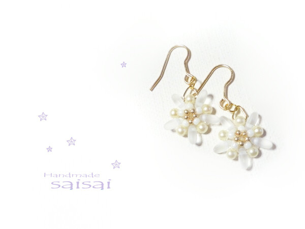 snow crystal  ピアス
