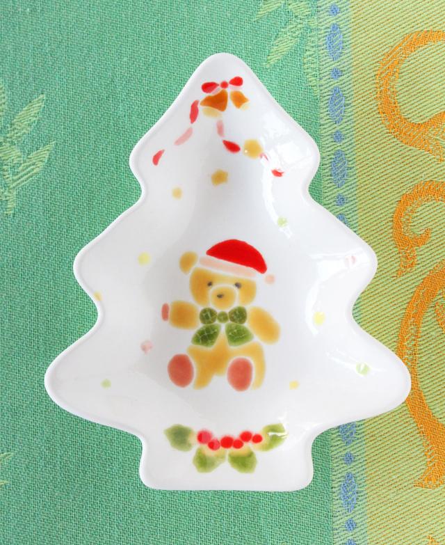 クリスマスツリープレート(ミニ)ベアー