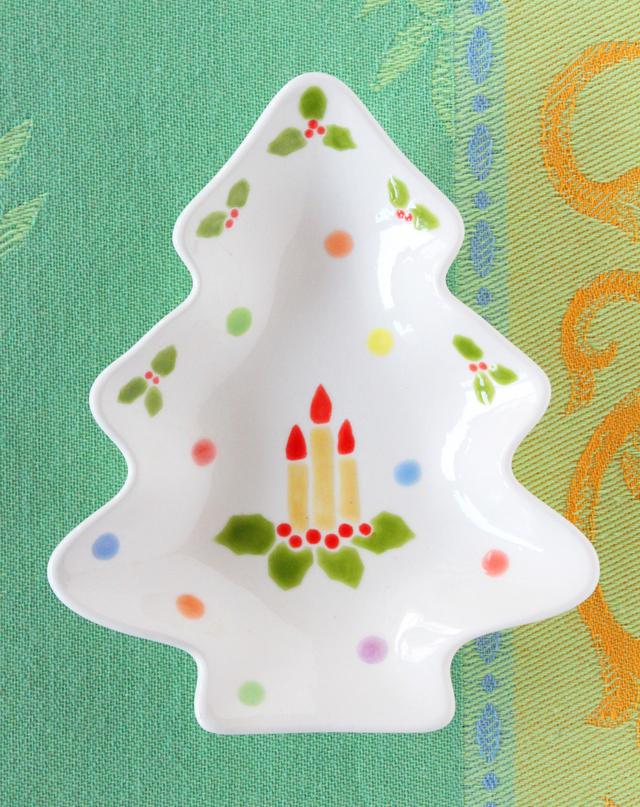 クリスマスツリープレート(ミニ)キャンドル