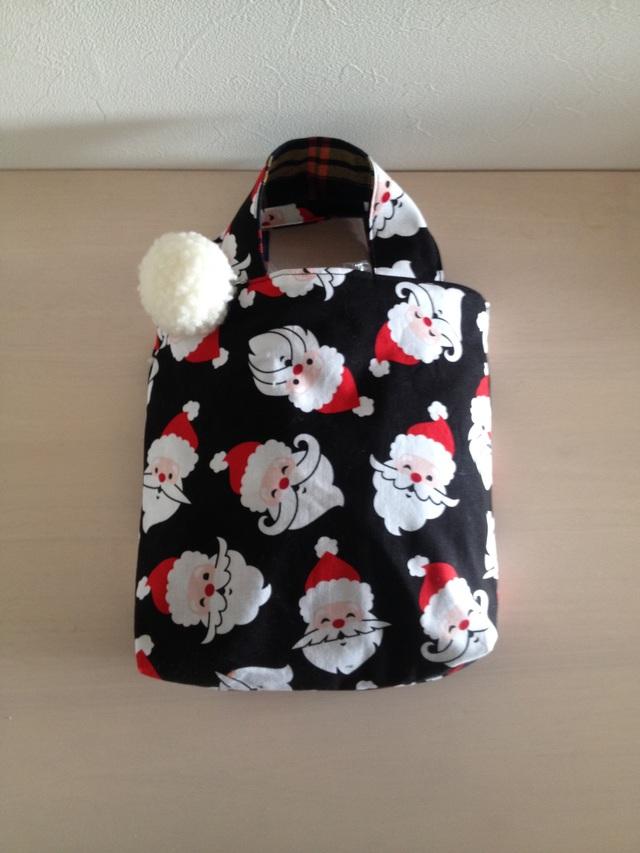サンタのミニバッグ《リバーシブル♪》