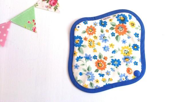 可愛い布ナプキン『Blueflower』おりものライナー