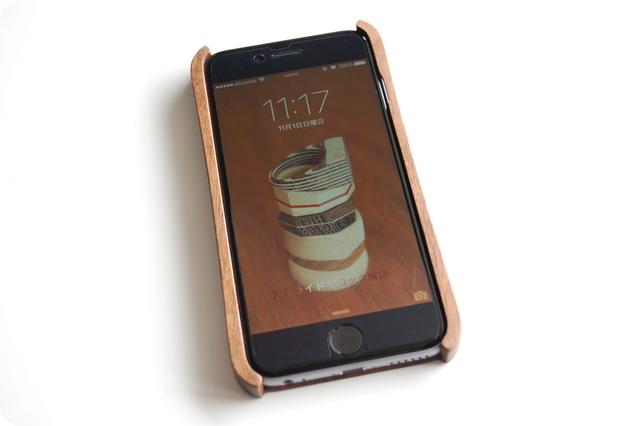iPhone 6/6s ウッドケース ウォールナット ストラップホール付