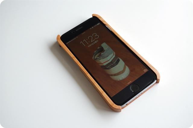 iPhone 6/6s ウッドケース チェリー ストラップホール付