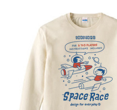 SPACE BOY & GIRL 長袖Tシャツ【受注生産品】