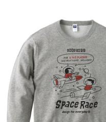 【再販】SPACE-〜アメリカン・レトロ  トレーナー【受注生産品】
