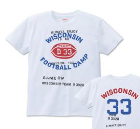 フットボール×ミリタリー  S〜XL Tシャツ【受注生産品】