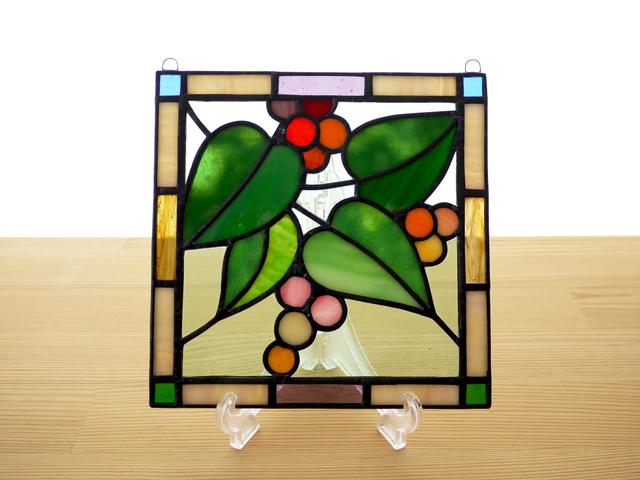ステンドグラス ミニパネル ガーデン(b) 15cm