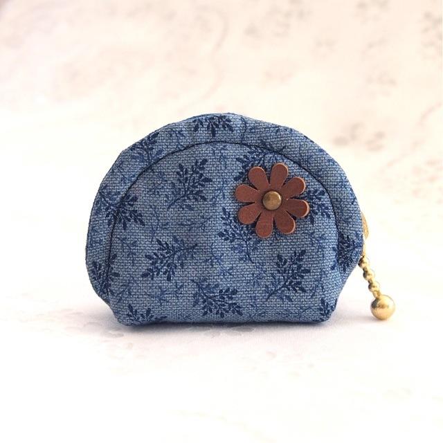 小さな小さな花柄ラウンドポーチ【ネイ...