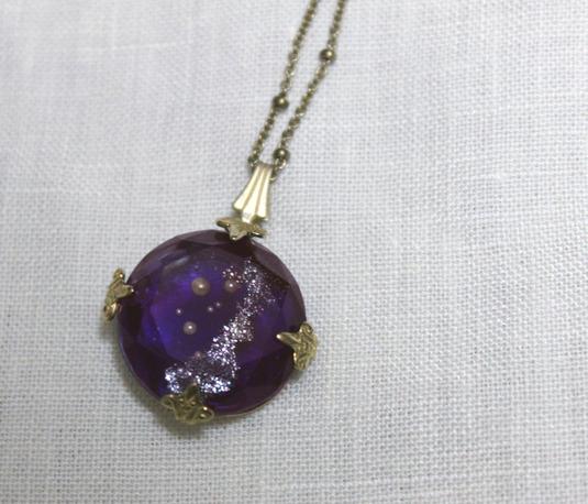 SORRY--SOLD OUT--購買部 7月星祭:シリウス金剛石の首飾/碧紫色(直径約2cm)