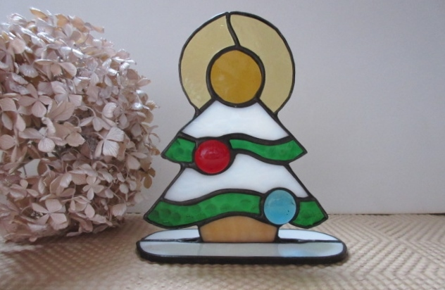 SALE!  ステンドグラスのクリスマスツリー
