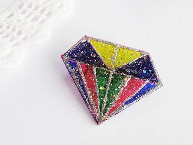 ダイヤモンドデザインブローチ:D