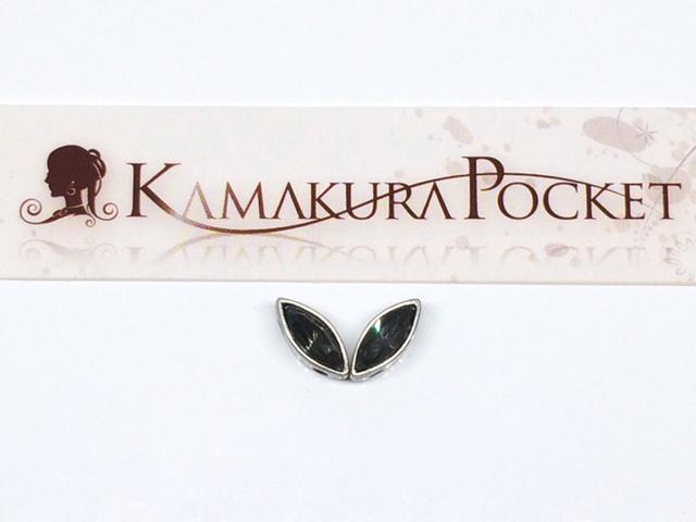 ヴィンテージスワロフスキー#4200-MOR-8×3 モリオン/銀古美 2個