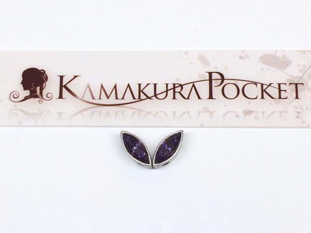 ヴィンテージスワロフスキー#4200-CARD-8×3 カーディナル/銀古美 2個