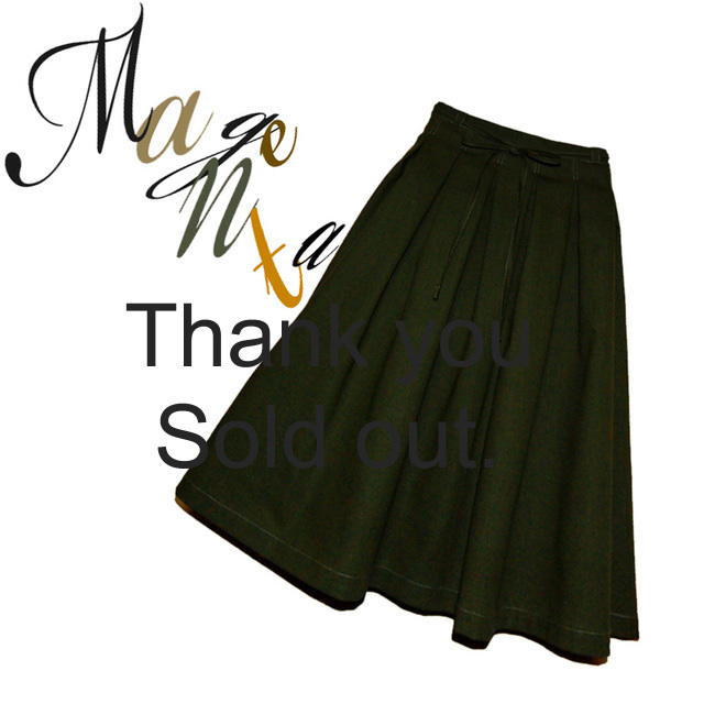 FuWaRi : キリリと大人可愛く♪今年色の2WAYスカート(カーキ)