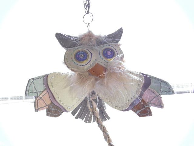 フクロウのバッグチャーム