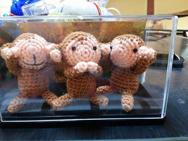 来年の干支 三猿 編みぐるみキット