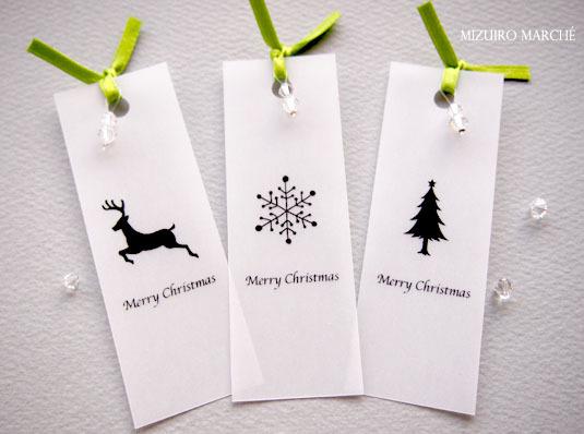 【再販】クリスマス限定ブックマーカー(しおり)*トナカイ*雪の結晶*ツリー*