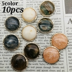 【cbtt4021acrc】【5color 10pct】glitter marble cabochon