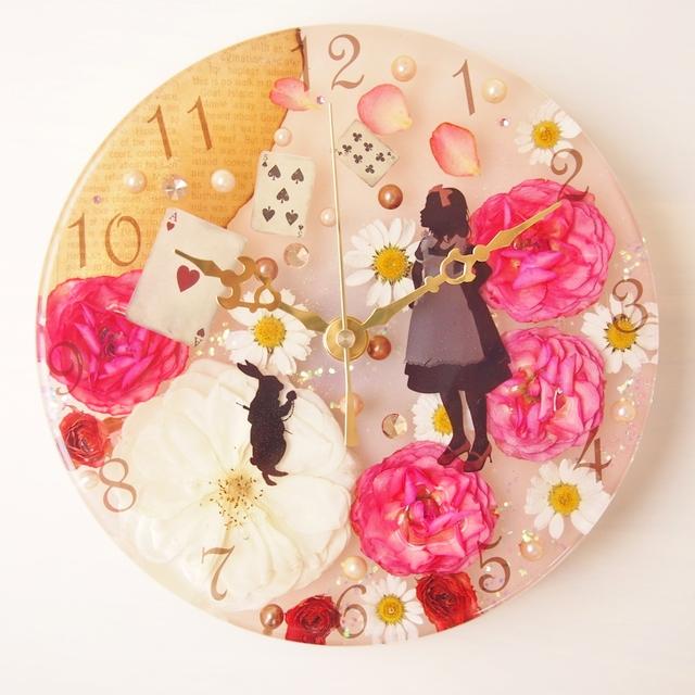 アリスの壁掛け時計