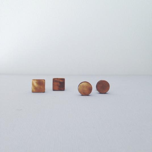 wood+brass 002 イヤリング