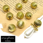 10pcs) antique design melon beads