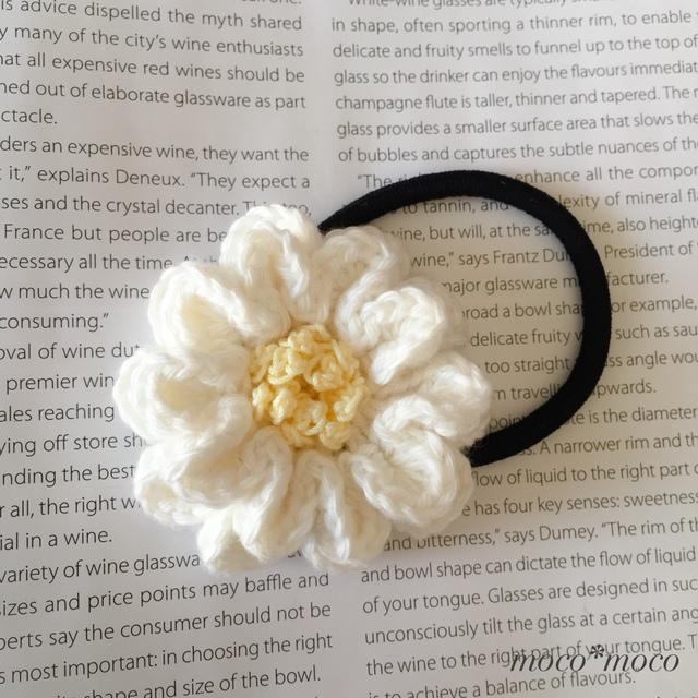 お花ヘアゴム(ホワイト)
