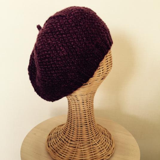 ベレー帽《鹿の子編み》