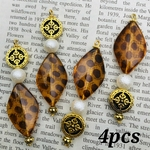 【chmm4046oripp】【4pct】antique style beads charm