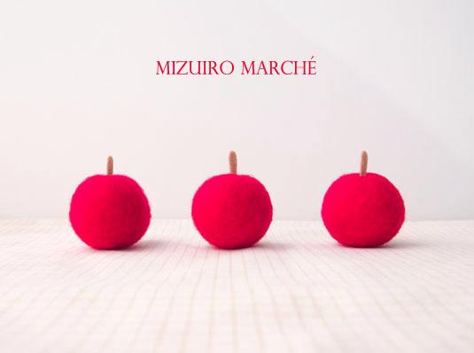 【季節限定*再販】羊毛フェルトの赤りんご